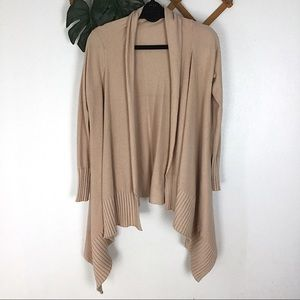 Zara Knit | Camel Tan Ribbed Cardigan Sweater